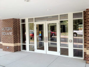 commercial storefront, windows and door installation