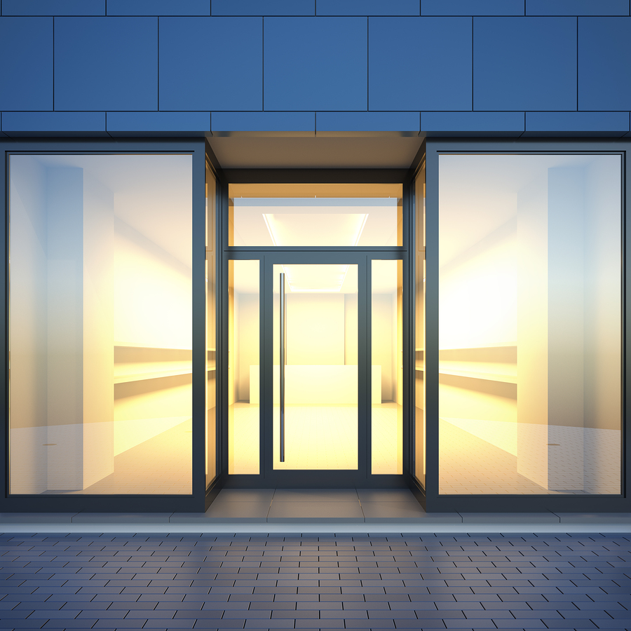 designing a glass storefront for your business aeroseal windows