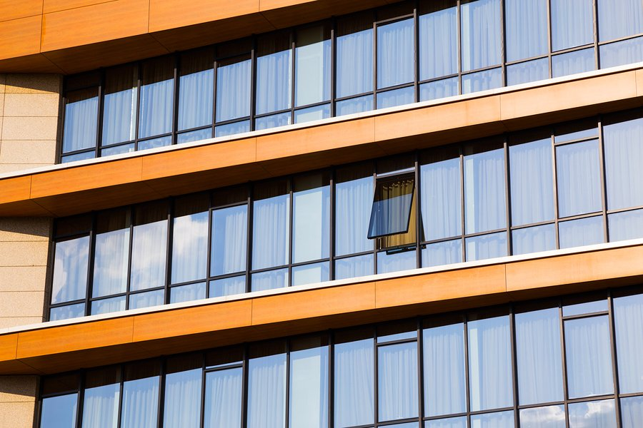 Multi-Pane Windows can help reduce utility costs in an office building