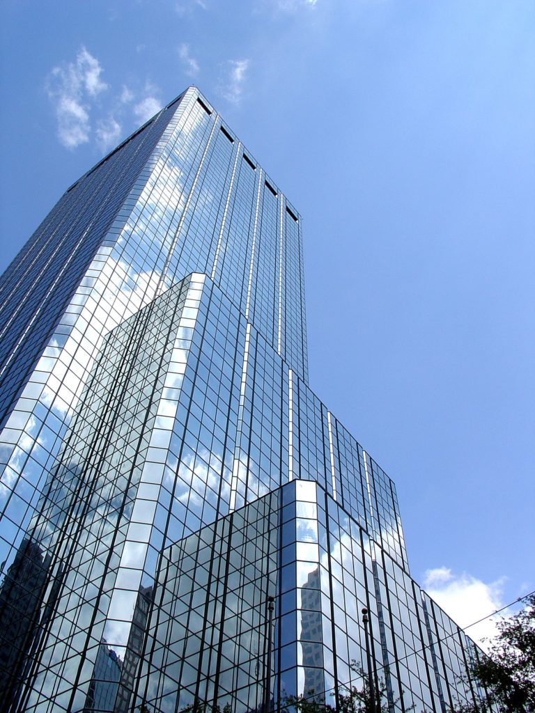 High-rise apartment building.